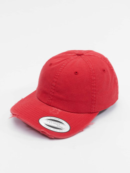 Flexfit Snapback Caps Low Profile Destroyed punainen