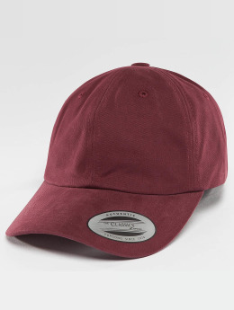 Flexfit Snapback Caps Peached Cotton Twill Dad punainen