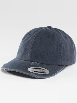 Flexfit Snapback Caps Low Profile Destroyed sininen