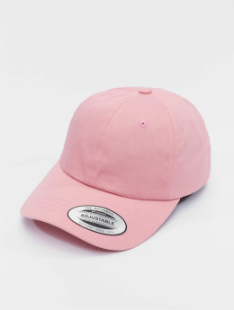 Flexfit Snapback Caps Low Profile Cotton Twill vaaleanpunainen
