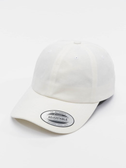 Flexfit Snapback Caps Peached Cotton Twill Dad valkoinen