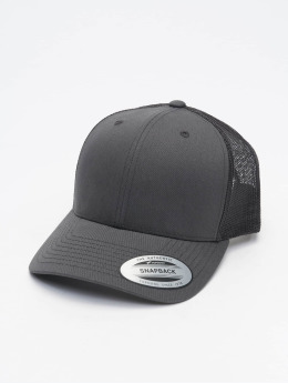 Flexfit Trucker Retro  šedá