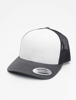 Flexfit Trucker Retro Colored Front  šedá