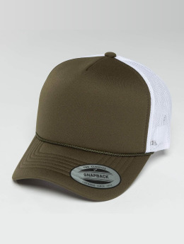 Flexfit Trucker Cap Curved Visor Foam grün