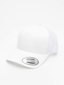 Flexfit Trucker Cap Retro weiß