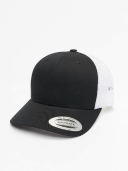 Flexfit trucker cap Retro zwart