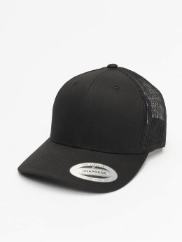 Flexfit Trucker Caps Retro čern