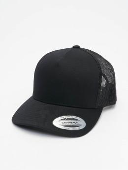 Flexfit Trucker Caps Retro čern