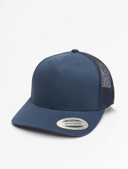 Flexfit Trucker Caps Retro blå