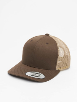 Flexfit Trucker Caps Retro brun