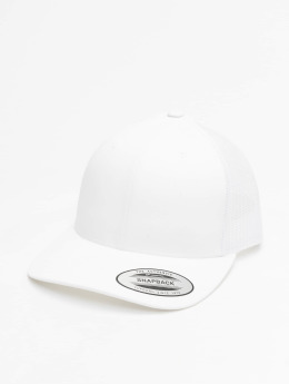 Flexfit Trucker Caps Retro hvit