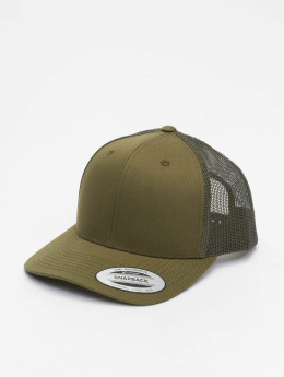 Flexfit Trucker Caps Retro oliven