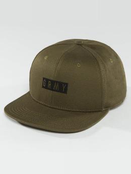 Grimey Wear snapback cap Overcome Gravity olijfgroen