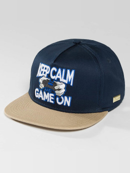 Hands of Gold Snapback Cap Game On blau