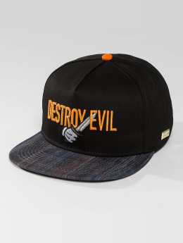 Hands of Gold Snapback Cap Destroy Evil schwarz