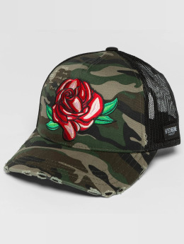 Hechbone Trucker Cap Rose camouflage