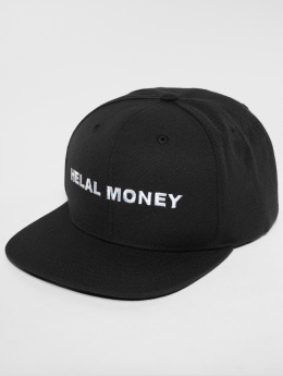 Helal Money Snapback Caps LOGO musta