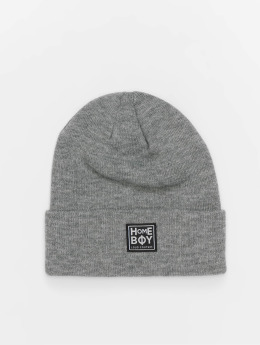 Homeboy Beanie Bad Hair New School Logo grau