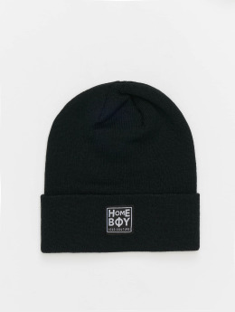 Homeboy Beanie Bad Hair New School Logo zwart