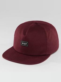 HUF Snapback Box Logo èervená