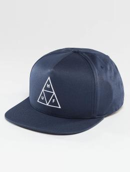 HUF Snapback Caps Triple Triangle blå