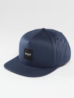 HUF Snapback Caps Box Logo blå