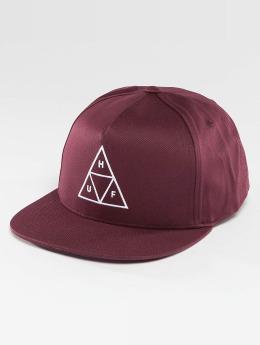 HUF Snapback Caps Triple Triangle red
