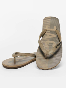 Jack & Jones Slipper/Sandaal jfwLogo bruin