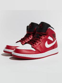 Jordan Сникеры 1 Mid красный