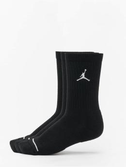 Jordan Ponožky 3 Pack Cotton Crew čern