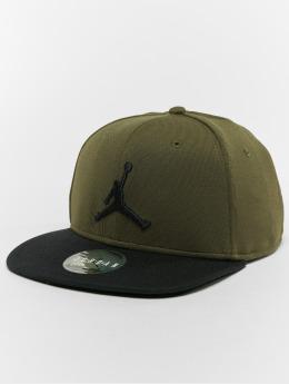 Jordan Snapback Caps Jumpman oliwkowy