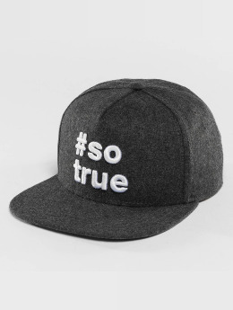 Just Rhyse Being True  Snapback Cap Anthracite