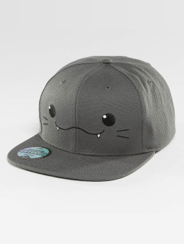 Just Rhyse Snapback Caps Kawaii Cat grå