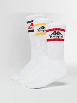 Kappa Chaussettes Taxa 3 Pack blanc