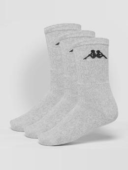 Kappa Sokker Sonotu 3 Pack grå