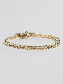 KING ICE Pulsera Gold_Plated 4mm Franco oro