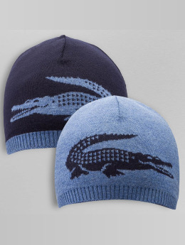 Lacoste Beanie Jacquard blauw