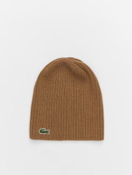 Lacoste Beanie Double Rib brown