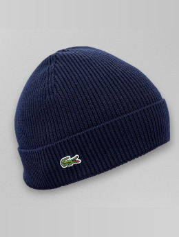 Lacoste Bonnet Half Cardigan Rib bleu