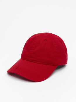 Lacoste Snapback Caps Gabardine Croc czerwony
