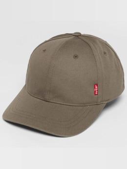 Levi's® Snapback Cap Classic Twill Red Tab grau