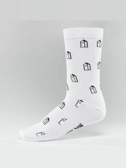 Lousy Livin Socken Houses weiß