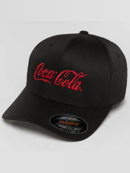Merchcode Casquette Flex Fitted Coca Cola Logo noir
