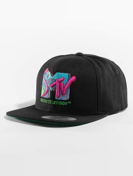 Merchcode Snapback Caps MTV Flamingo musta