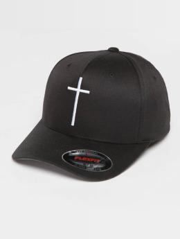 Mister Tee Flexfitted Cap Cross schwarz