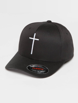 Mister Tee Flexfitted Cap Cross zwart