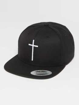 Mister Tee Snapback Cap Cross black
