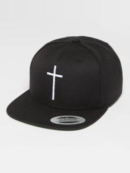 Mister Tee Snapback Cap Cross schwarz