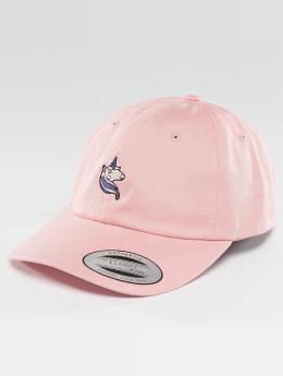 Mister Tee Snapback Caps Unicorn Dad růžový