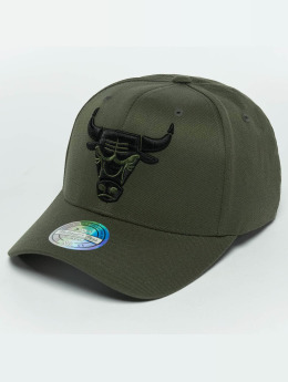 Mitchell & Ness Кепка с застёжкой The Olive & Black 2 Tone Logo 110 Chicago Bulls оливковый